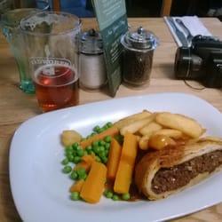 Very good Beef Wellington with veggies…
