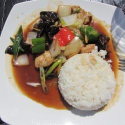 Stirfried pork with ginger at Thai…