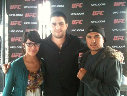 Barber Shop In Anaheim : My wife & I with Carlos Condit at the Honda Center in Anaheim Yelp