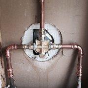 Kendrick Plumbing - Marietta, GA, États-Unis. Shower valve installed w Pro Press-no flame/no mess! Call 770-590-5006 for a Great Plumbing Experience