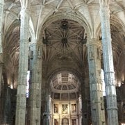Inside the church at Jeronimos Monastery…