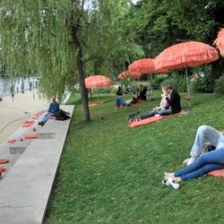 Uferpromenade am Café mit…