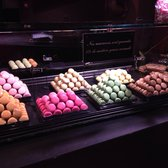 Some of their tasty macarons on display.