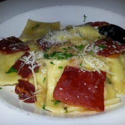 The Red Grape Pizzeria - Gorgonzola and leek ravioli - Sonoma, CA ...