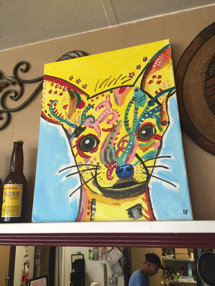 Achiote Grill - Huntington Beach, CA, United States. Eclectic artwork