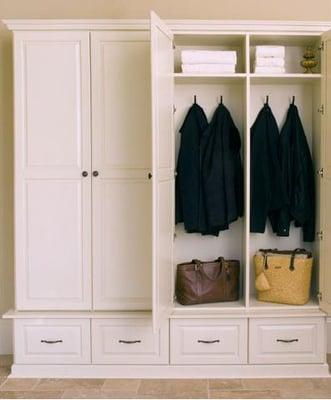 Mudroom lockers yelp for Entryway lockers with doors