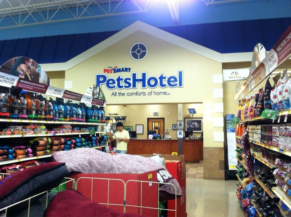 Inside PetSmart lies a kennel and doggy day care. | Yelp