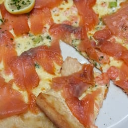 salmon and shrimp pizza