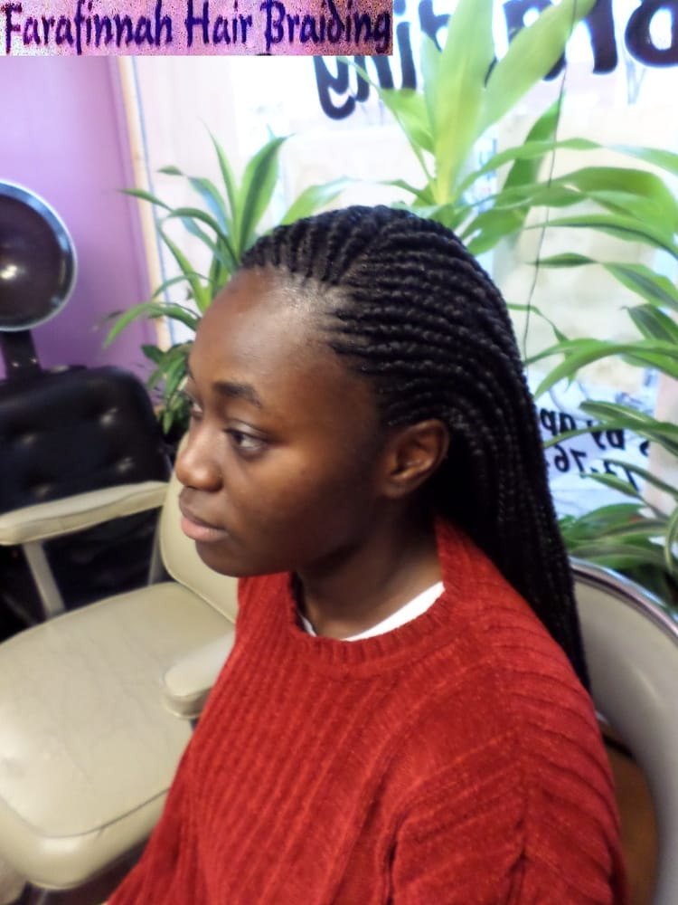 Box Braids Corn Rows in Front and Back