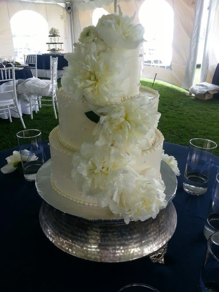 Peony s and pearls wedding cake Yelp