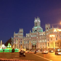 Plaza de la Cibeles just down from the pub on St. Patrick's Day