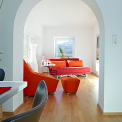 Blick ins Wohnzimmer im Appartement…