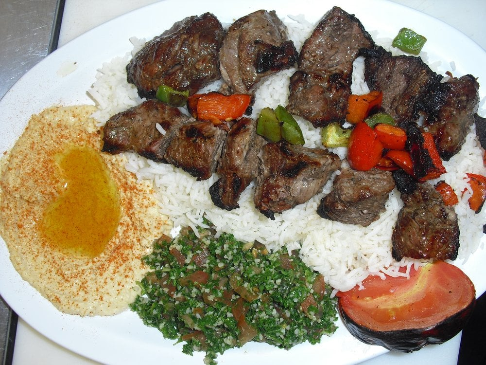 Beef Kabobs Plate Beef Kabob Plate With