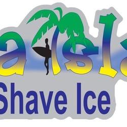 shaved ice signage