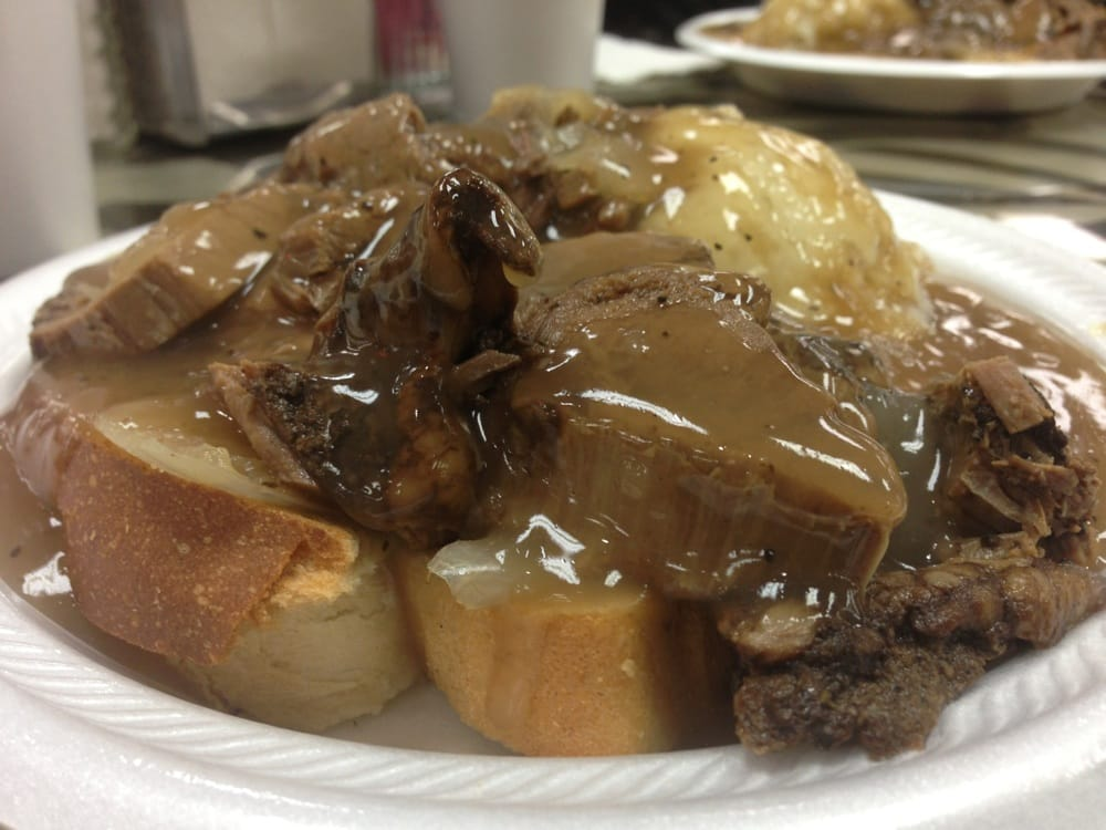 ... States. open face roast beef sandwich wit mashed potatoes & gravy