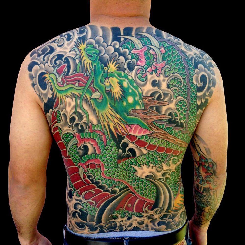 Dragon backpiece yelp for Endless summer tattoo