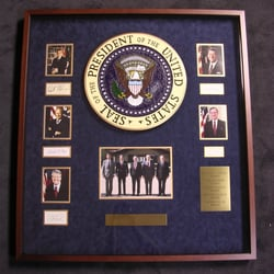 Westlake Custom Framing - Westlake Village, CA, États-Unis. Former U.S. Presidents and Seal