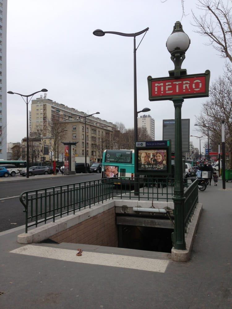 Porte de la chapelle metro openbaar vervoer 18 me - 6 avenue de la porte de la chapelle 75018 paris ...