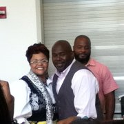 Uic Forum - Tamela Mann and her husband (Cora and Mr. Brown) at NLC at the UIC Forum - Chicago, IL, Vereinigte Staaten