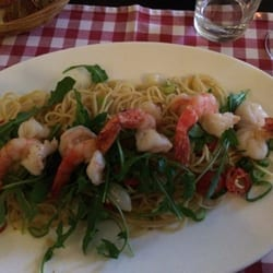 Spaghettini con scampi