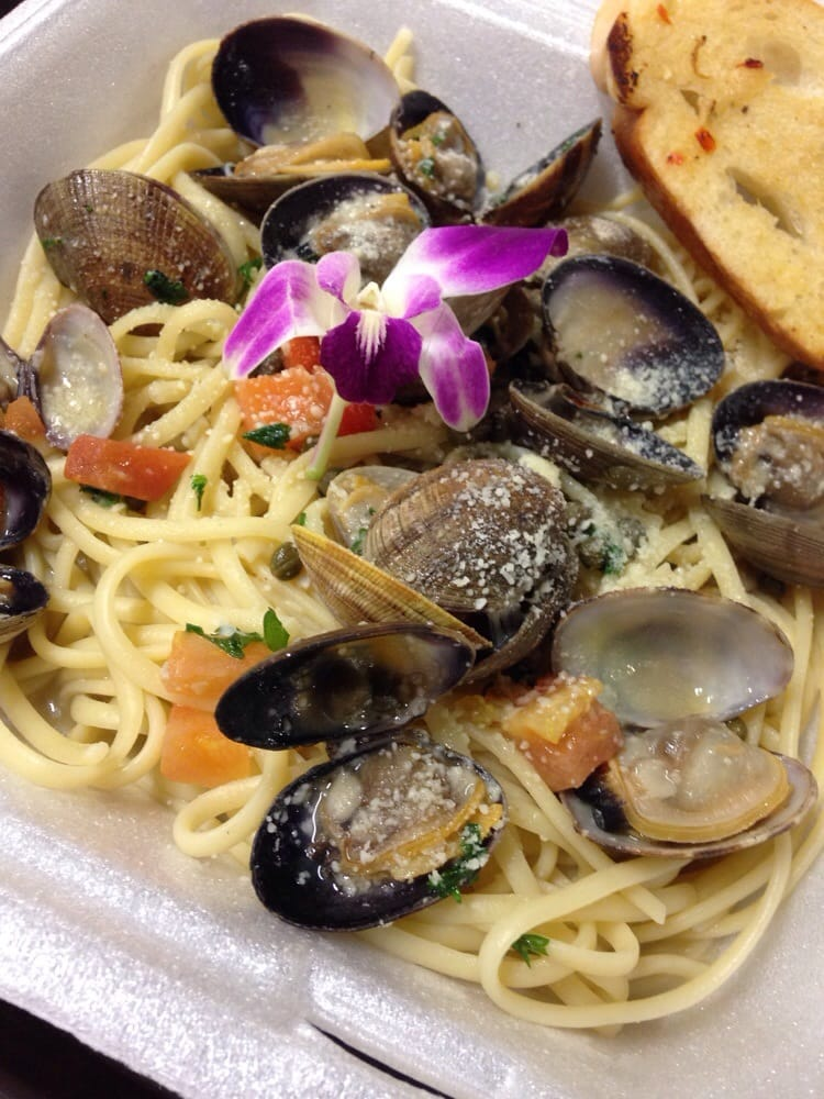 6 5 2014 clam linguine yelp for Blue water fish market