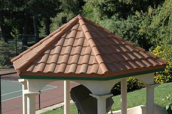 Gerard barrel vault tile sunset gold color yelp for Barrel tile roof colors