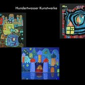 Collage Hundertwasserbilder.