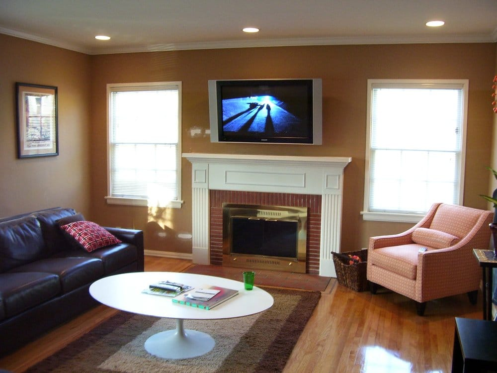 Philips 42 Flat Panel Plasma TV Installation Over Fireplace In Burbank