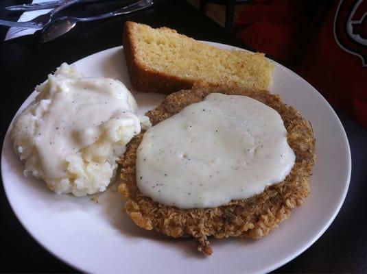 Mama Josephine's - Chicken Fried Steak with Mash Potatoes & White ...