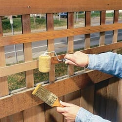 I paint and protect fencing