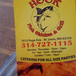 Hook fish chicken grill saint louis mo united states for Hooks chicken and fish menu
