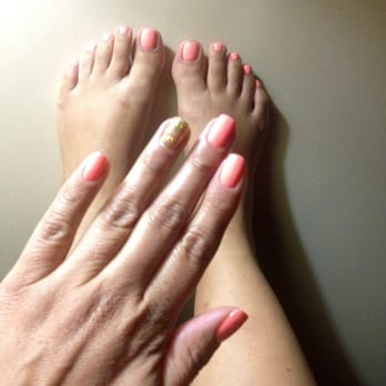 gel manicure and a pedicure
