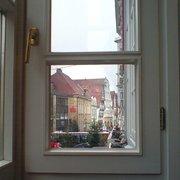 Blick aus dem Cafe im Obergeschoss
