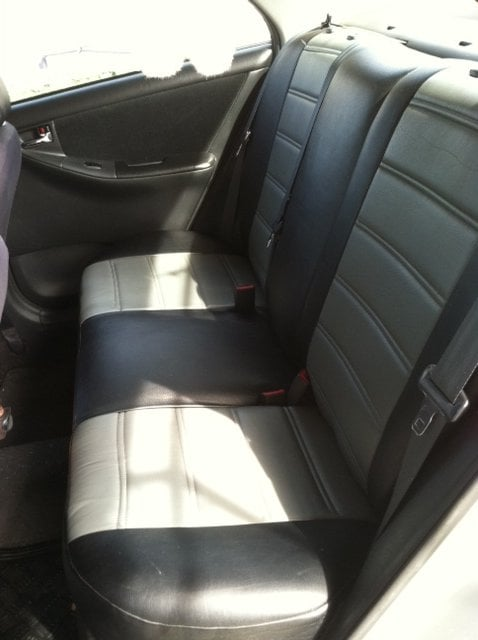 toyota corolla 2004 rear seats vinyl seat covers yelp. Black Bedroom Furniture Sets. Home Design Ideas