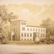 Zeichnung der Villa Liegnitz mit…