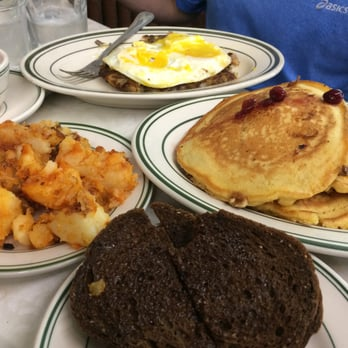 ... - Boston, MA, United States. Turkey hash, Banana nut griddle cakes