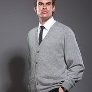 V Neck Cashmere Cardigan for Men