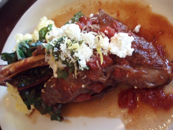 Braised Lamb Shanks With Swiss Chard Recipe — Dishmaps