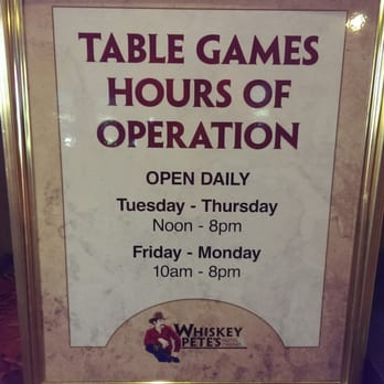 Casino hours of operation