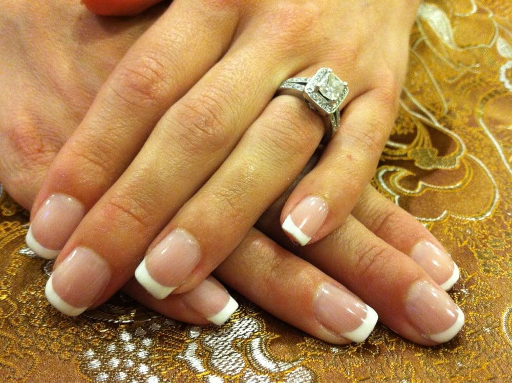 Nails & Spa - Washington, DC, United States. Gel French manicure