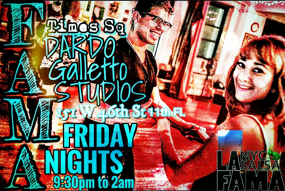 Salsa party this friday night in times square 151 w 46th for 11 west 19th street 7th floor new york ny 10011