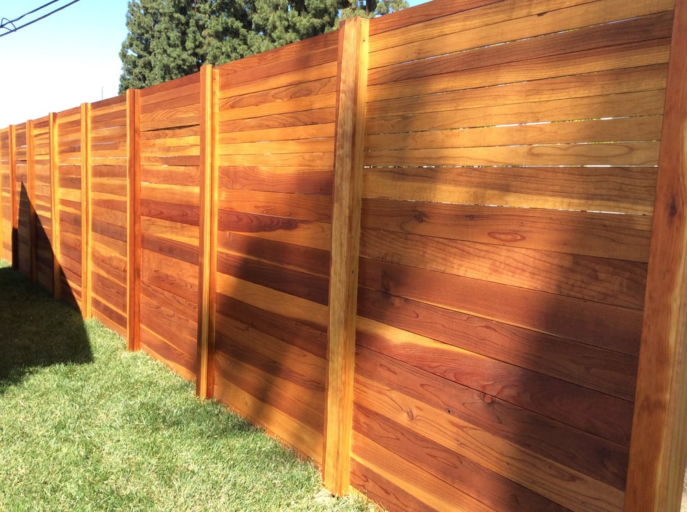 Horizontal Redwood Privacy Fence Yelp