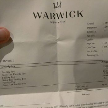 Warwick Hotel Nyc Phone Number