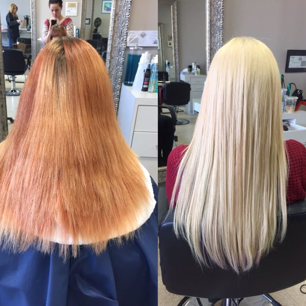 From bad bleach job from another salon to after two more times photo of glamourax burbank ca united states from bad bleach job from pmusecretfo Image collections