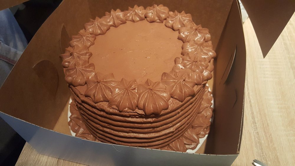 Chocolate Cake With Chocolate Icing For A Friends Birthday Best