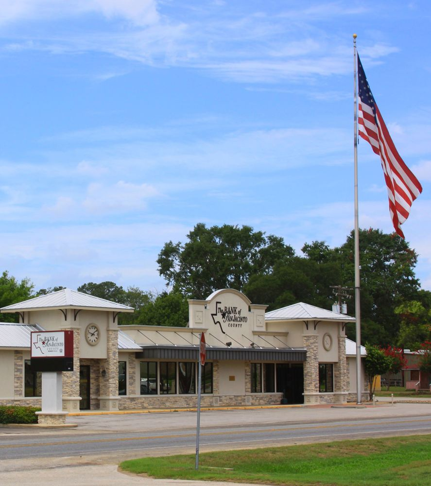 Bank of San Jacinto County: 100 State Highway 150, Coldspring, TX