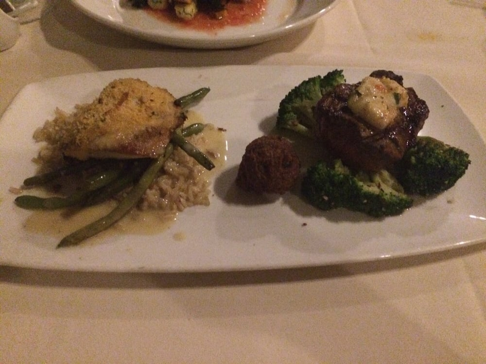 The duo dish crusted monchong and prime filet yelp for Merriman s fish house