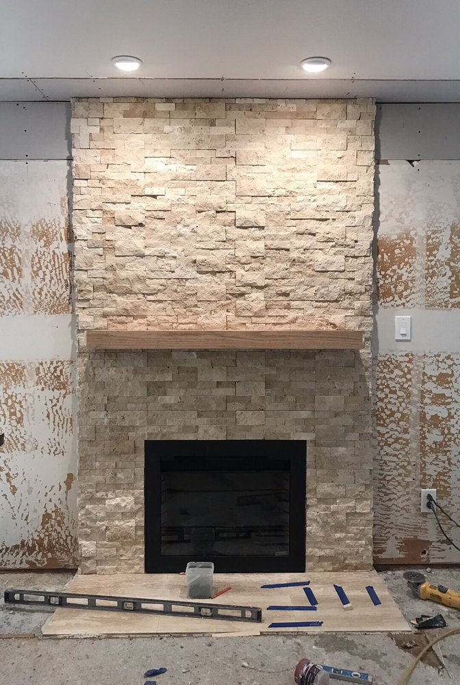 our stonewall fireplace work in progress but already looking rh yelp com stone wall fireplace designs stone wall fireplace decorating ideas