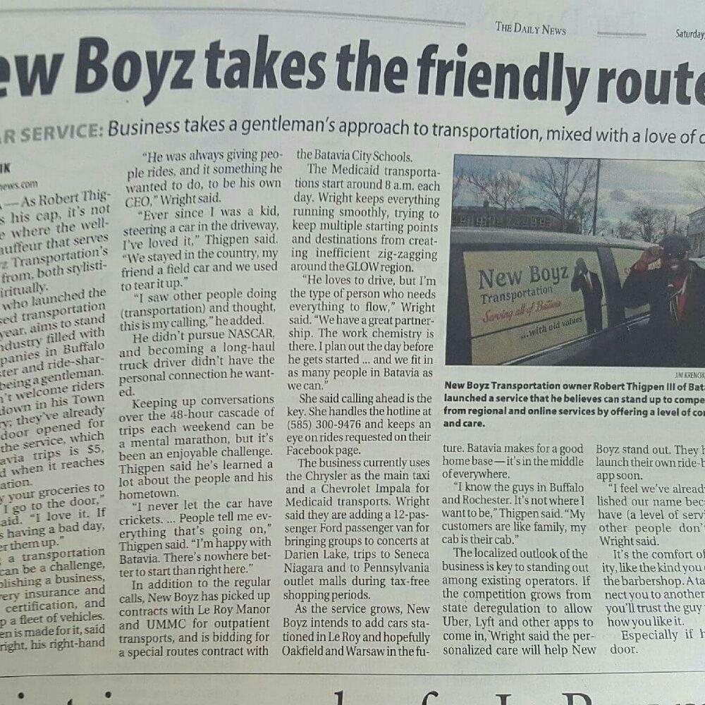 New Boyz Transportation: Batavia, NY