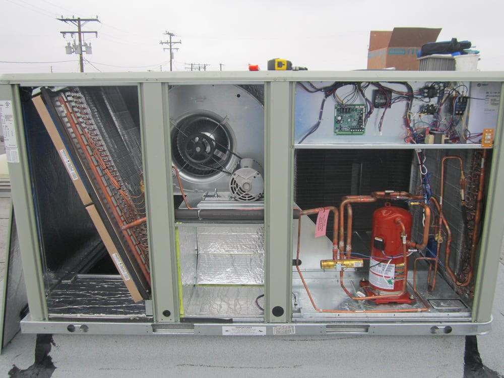 Inside a 7.5 ton American Standard package unit - Yelp